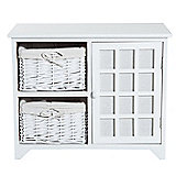 Homcom Wooden Cabinet Unit Bedroom Storage Chest w/ Multi Tiers and Drawers - White