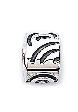 Jo For Girls Patterned Hinged Silver Stopper Slide On Bead