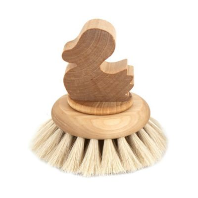 Iris Hantverk Birch Wood Duck Handled Bath Brush with Horse Hair 1034-00