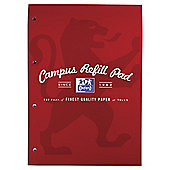 Oxford Campus 140pg Refill Red 5 pack