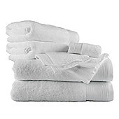Homescapes White Cotton Supreme Luxury 6 Piece Towel Bale 700 GSM