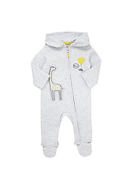 F&F Quilted Giraffe All in One - Grey