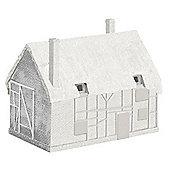 Hornby R9643 Skaledale Unpainted Thatched Derelict Cottage No.1 Model 00 Gauge