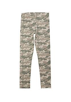 F&F Camouflage Print Leggings - Khaki