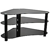 ValuFurniture UM7 Curved Black Glass TV Stand