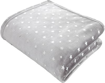 Catherine Lansfield Star Throw Grey