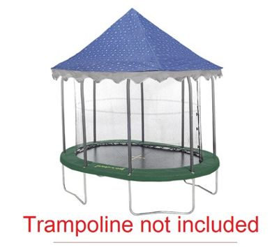 7ft x 10ft Jumpking Oval Star Canopy Tr&oline Tent  sc 1 st  Tesco & Buy 7ft x 10ft Jumpking Oval Star Canopy Trampoline Tent from our ...