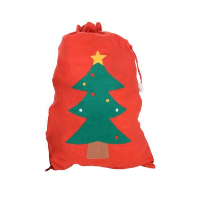 Large Felt Christmas Sack Gift Bag - Single Christmas Tree