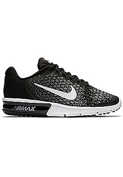 Nike Air Max Sequent Ladies Running Shoes - Black/White - Black