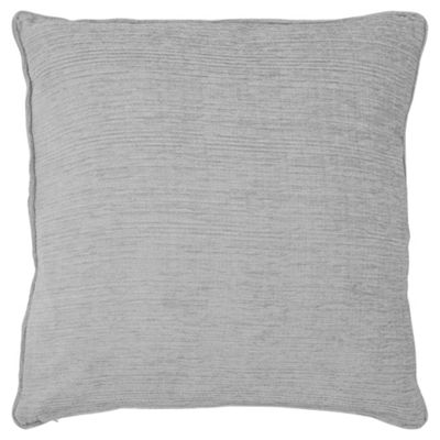 buy tesco flat chenille silver 50x50 cushion from our. Black Bedroom Furniture Sets. Home Design Ideas