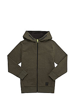 F&F Zip-Through Panelled Sweatshirt - Khaki