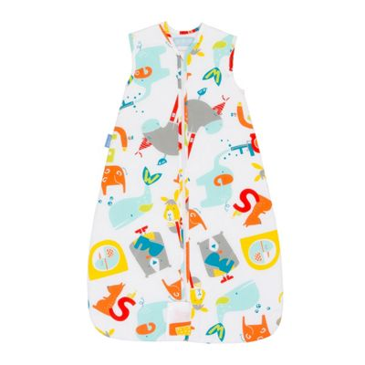 Grobag Travel Baby Sleeping Bag - E is for Elephant 1.0 tog (0-6 months)
