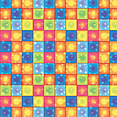 70's Disco Party Disco Boogie Squares (1 roll) (each)