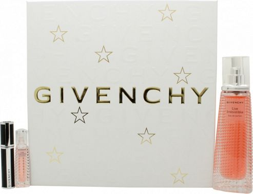Givenchy Live Irresistible Gift Set 50ml EDP + 3ml EDP + 4g Noir Couture Mascara For Women