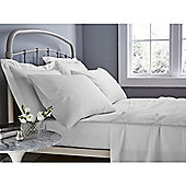 Catherine Lansfield 500 Thread Count Fitted Sheet - White