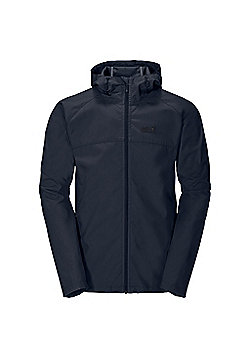 Jack Wolfskin Mens Amber Road Softshell Jacket - Navy