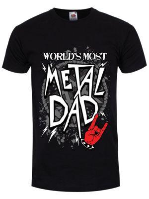 World's Most Metal Dad Men's T-shirt, Black.