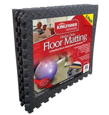 Kingfisher 6 Piece Interlocking Floor Mat