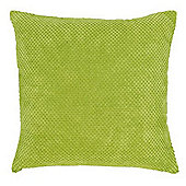 Mason Grey Chenille Spot Green Cushion Cover - 43x43cm