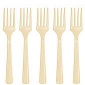 Ivory Plastic forks - 20 Pack