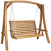 Bentley Wooden Garden Swinging Seat, 3 seater