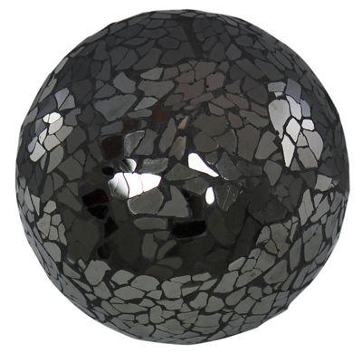 Black Sparkle Mosaic Small Decorative Ball