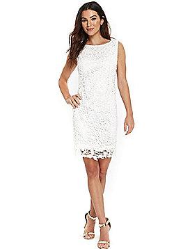 Wallis Crochet Lace Shift Dress - Ivory