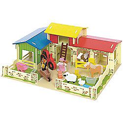 Bigjigs Toys Heritage Playset Meadow Farm