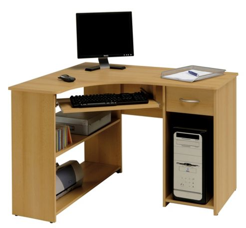 Parisot Max Computer Desk in Samerberg Beech