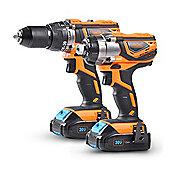 VonHaus Cordless Impact Drill & Driver Set + 2 x 1.5Ah Li-ion 20V MAX Batteries