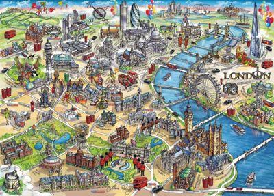 London Landmarks - 1000pc Puzzle