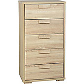 Cambourne 5 Drawer Chest in Sonoma Oak Effect Veneer