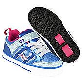 Heelys Bolt Plus Ice Blue/Silver/Pink Kids Heely X2 Shoe - Blue