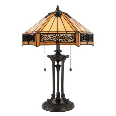 Vintage Bronze Table Lamp - 2 x 60W E27