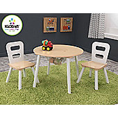 Kidkraft Round Table and 2-Chair set - Natural