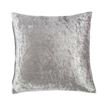 Homescapes Silver Luxury Crushed Velvet Cushion Cover, 45 x 45 cm