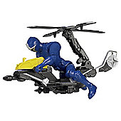 Power Rangers Ninja Steel Mega Morph Cycle with Blue Ranger