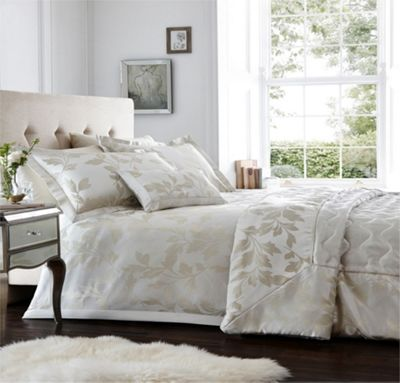 Pablo duvet cover and pillowcase set - Ivory - Double