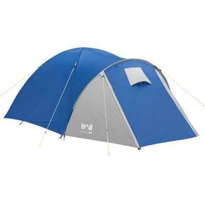 Trail Bracken 3-Man Dome Tent With Large Porch - Blue  sc 1 st  Tesco & Tents | Camping u0026 Hiking - Tesco