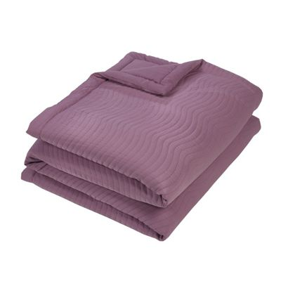 Julian Charles Essence Mauve Quilted Jacquard Bedspread