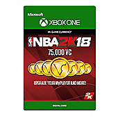 NBA 2K18: 75,000 VC DIGITAL CARDS (Digital Download Code)