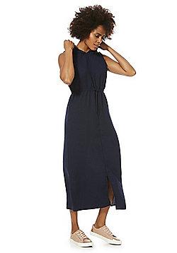 Noisy May Hooded Drawstring Dress - Navy