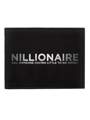 Nillionaire Black Bi-Fold Wallet 11 x 8.4 x 1.5cm