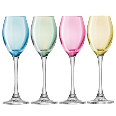 LSA Polka Pastel Assorted Sherry Glasses 0.7L (Set of 4)