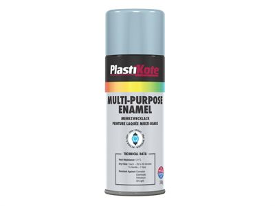 Plasti-kote Multi Purpose Enamel Spray Paint Gloss Aluminium 400ml