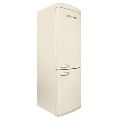 Servis C80185RETROC 1950's Retro Fridge Freezer in Classic Cream | Right Opening