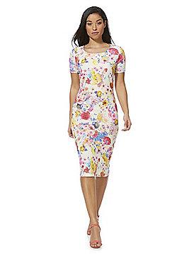 Feverfish Floral Bodycon Dress - Multi