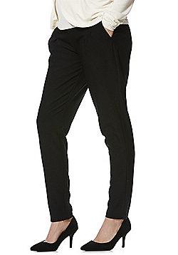 Mamalicious Elasticated Waistband Maternity Straight Leg Trousers - Black