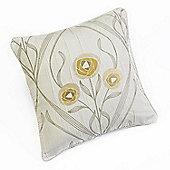 Rectella Montrose Cream Corded Jacquard Square Cushion Cover -46x46cm