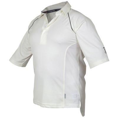 Kookaburra Predator Cricket Shirt Comfort Fit Navy Trim Mesh Panels Large